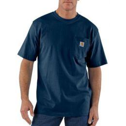 K87NVY Navy Short Sleeve Workwear Pocket T-Shirt Carhartt Mens Shirts
