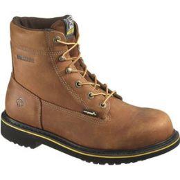 W10098 Brown Foster Steel Toe Durashocks Wolverine Mens Work Boots