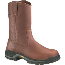 4909 Brown Harrison Steel-Toe EH Wellington Wolverine Mens Work Boots