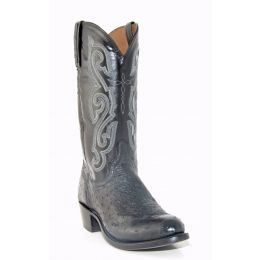 A1000.R4 Black Ostrich Neck Men's Lucchese Western Boot