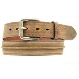 A1011202 Men's Ariat Center Stripe Distressed Brown Belt