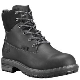 Timberland Pro Black Full-Grain Hightower 6 Inch Alloy Toe Womens Work Boots A1KIT