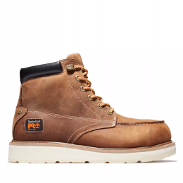 Timberland Golden Brown Full-Grain Timberland Pro Gridworks 6 Inch Waterproof Alloy Toe Work Boots A29V1