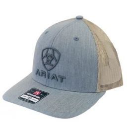 Ariat Men's Grey Embroidered Logo Snap Back Cap A300012008