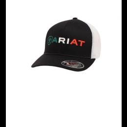Ariat Black Mexican Flag Men's Snap Back Hat A300012201
