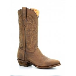 Corral Vintage Round Toe Golden Brown Mens Western Boots A3254