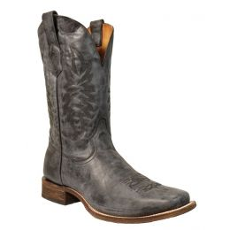 Corral Black/Grey Vintage Square Toe Mens Western Boots A3255