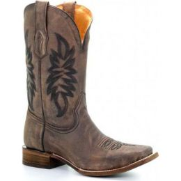 Corral Vintage Square Toe Brown Mens Western Boots A3261