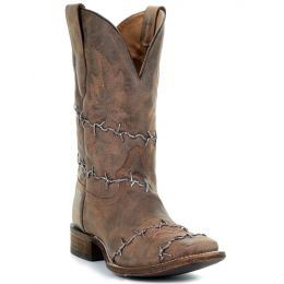 Corral Barbwire Square Toe Mens Western Boots A3532