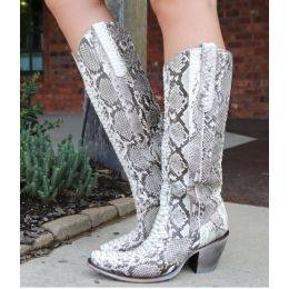 Corral Natural Python Womens Tall Western Boots A3789