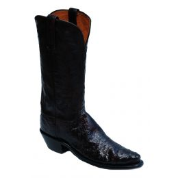 Lucchese Black Cherry Ostrich Neck Womens Boot A4007.54