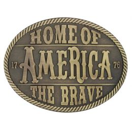 Montana Silversmith Heritage Home of the Brave Attitude Buckle A629C