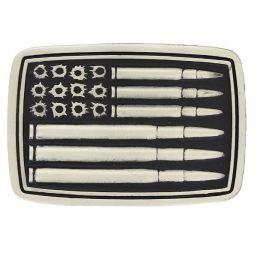 Montana Silversmith Silver Bullet Flag Attitude Buckle A709P