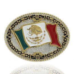 Montana Silversmiths Grand Mexican Flag Buckle A855