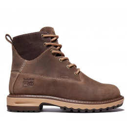Timberland Pro Brown Full-Grain Hightower 6 Inch Alloy Toe Womens Work Boots A1KIT