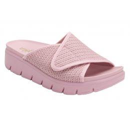 Alegria Blush Airie Braided Adjustable Strap Womens Slide On Sandals AIR-114