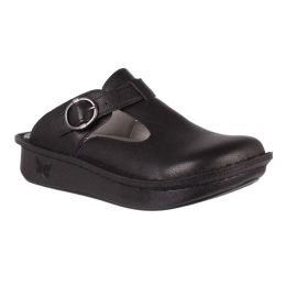 Alegria Black Classic Adjustable Strap Womens Slip On Shoes ALG-161