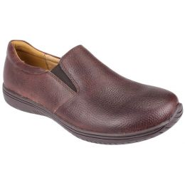 Alegria Aaron Slip On Brown Leather Mens Casuals AM-AAR-145