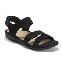 Earth Shoes Women's Black Alder Amal Comfort Sandal AMAL-BLACK