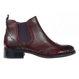 Regarde Le Ciel Bordeaux Maroon Annette Womens Short Booties