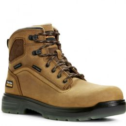 Ariat Tan Aged Bark Turbo H20 Mens Safety Toe Work Boots 10027335