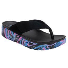 Alegria Black Astara I Got You Babe Adjustable Strap Womens Thong Sandals AST-170