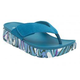 Alegria Teal Astara I Got You Babe Womens Adjustable Strap Thong Sandals AST-173