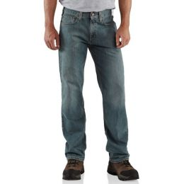B320 Light Weathered Blue Relaxed Fit Straight Leg Carhartt Mens Jeans (Sizes 30-46)