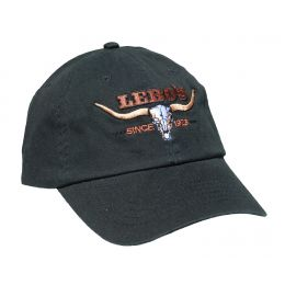 Lebos Longhorn Black Ballcap BC108-BLK