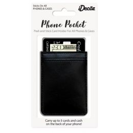 IDecoz Black Leather Phone Pocket BL743C
