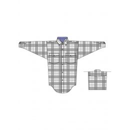C0D1092 Grey Plaid Long Sleeve Button Down Boys Panhandle Slim Western Shirt
