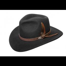 BC Hats Australian Wool Crusher Hat C1001-BLK