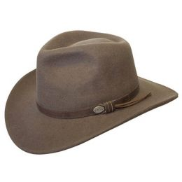 C1001 Brown WOOL Aussie Crushable Cowboy Hat
