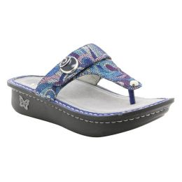 Alegria Carina Vintage Scarf Womens Slide Thong Comfort Sandals CAR-596