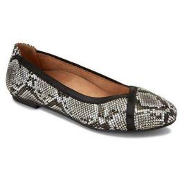 Vionic Caroll Women's Natural Snake Comfort Ballet Flat Slip On