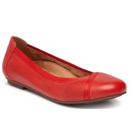 Vionic Cherry Red Caroll Womens Comfort Ballet Flat