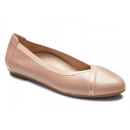 Vionic Tan Caroll Womens Comfort Ballet Flat
