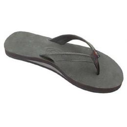 Catalina Premier Black Single Layer Leather Womens Rainbow Sandals