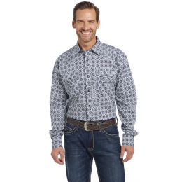 Cripple Creek Cowboy Up Long Sleeve Woven Shirt with Starch Finish CB00311