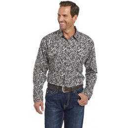 Cripple Creek Cowboy Up  Long Sleeve  Woven Shirt With Starch Finish CB00316