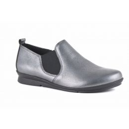 Bussola Cira Pewter Slip On Womens Loafer Shoes Cira-Pewter