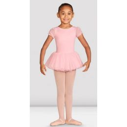 Bloch Girls Pastel Blue Amelia Frill Cross Back Tutu Leotard CL5542