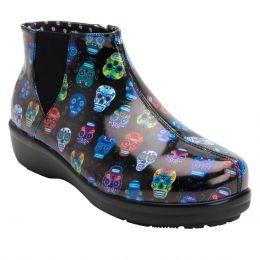 Alegria Climatease Sugar Skull  Womens Rain Boots CLI-484