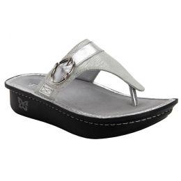 Alegria Codi White Sheen Adjustable Strap Womens Comfort Shoes COD-886