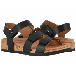 Vionic Black Colleen Womens Comfort Adjustable Strap Strap Sandals