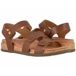 Vionic Cinnamon Brown Colleen Womens Comfort Adjustable Strap Strap Sandals