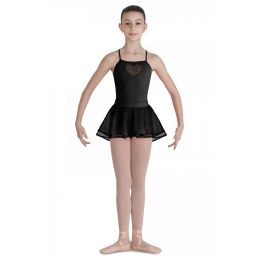 Girls Bloch Bahibak Heart Mesh Shaped Back Hem Ballet Skirt sizes 4-6 6x-7 8-10 and 12-14 CR7921