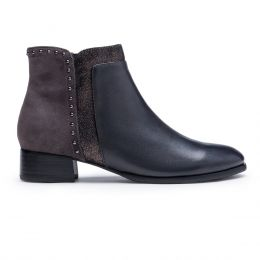 Regarde Le Ciel Grey Womens Short Ankle Leather Boots CRISTION