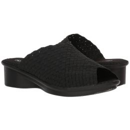 Bernie Mev Black Womens Comfort Sandal Wedge Cyrene