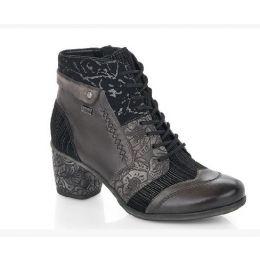 Remonte Women's Grey Comfort Zip-Up Fashion Boot D5470-45